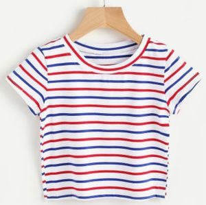 b3476d0806513e & Other Stories Tops | Stripped Red White And Blue Crop Top | Poshmark